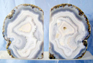 blue geode bookends