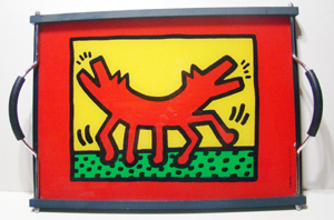Keith Haring pop art tray