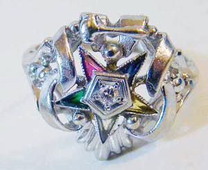 eastern star, ring, jewelry, vintage,