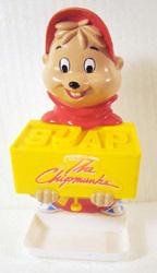 alvin, chipmunks, vintage, soap,                             dispenser,
