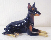 Andrea doberman dog figurine