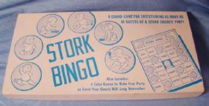 baby shower, baby, stork, bingo, game
