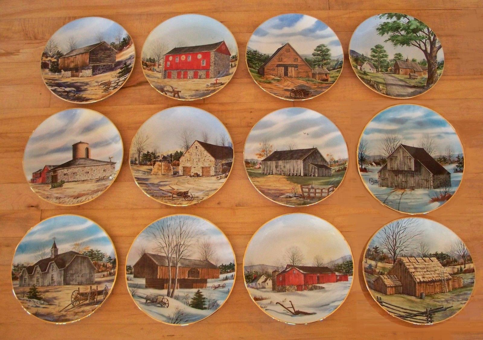 vanishing american barns, collector                           plates,