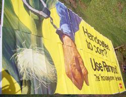Vintage Advertising Billboard, Poster,                           Monsanto, Ramrod,