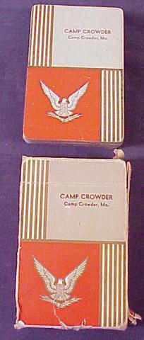 Camp Crowder Playing Cards