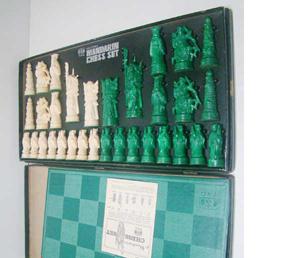 Vintage Mandarin Chess Set