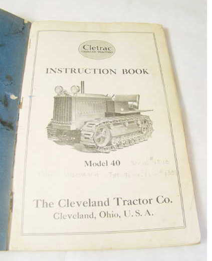 Cleveland Cletrac 1928 Tractor M40