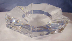 german crystal ashtray,