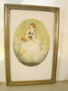 Icart Style Antique Etching Aquatint