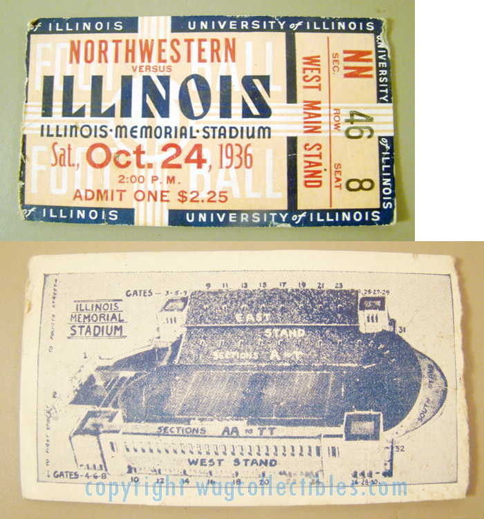 1936 Illinois vs Northwestern Football
