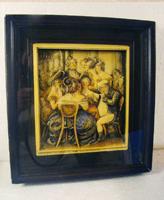 Antique Ivorex Framed Wall Plaque