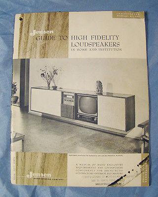 50s jensen high fidelity speaker guide