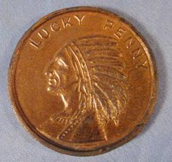 worlds fair, lucky penny, paperweight,                           coin, token,