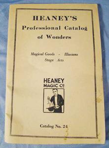 Heaney's Professional magicians magic                           tricks, catalog