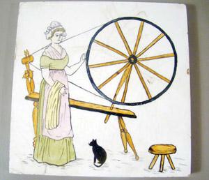 19C Minton HP Tile Spinning Wheel