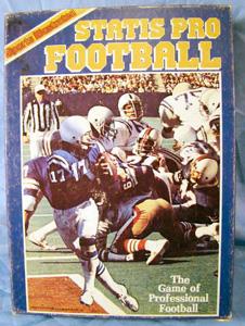 vintage sports illustrated statis pro                             football nfl game