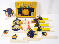 vintage halloween, decorations, party,