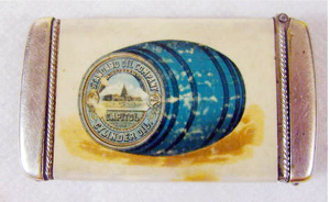 Antique Standard Oil Celluloid                           Advertising Match Safe