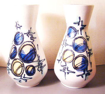 Pair of German Vases