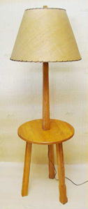 A Brandt Ranch Oak Table with Lamp