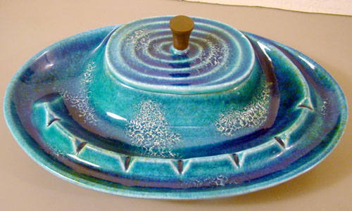 Bitossi Lava Glaze Ashtray Box Combo