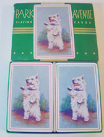 scotty, playing cards, vintage, double