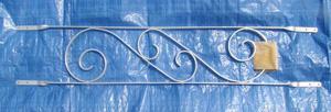 aluminum scroll work decoration