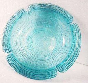 sirebi kudi ripple glass                           dish/bowl/ashtray