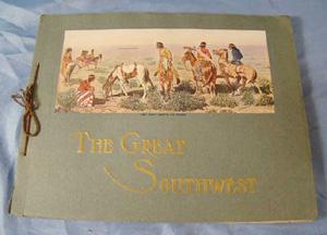 southwest santa fe railroad travel prints                           booklet