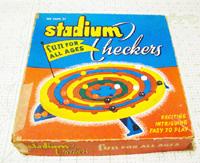 Vintage Stadium Checkers Game