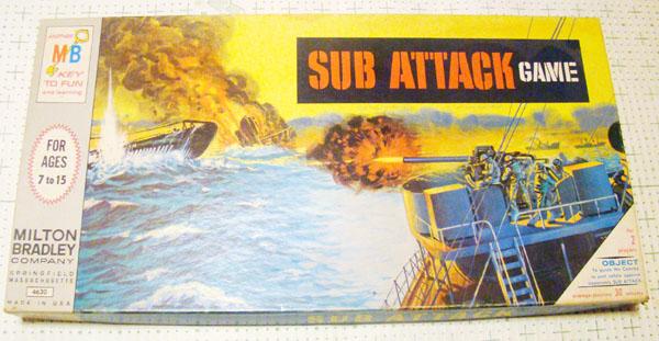 Vintage Milton Bradley Sub Attack Board                             Game