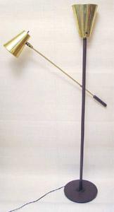 Arteluce Sarfatti mid century modern mcm                           dbl floor lamp, light