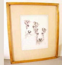Edith Willson Fox Terriers Etching