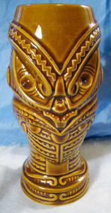 tiki mug brown orchids of hawaii