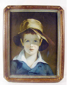 thomas sully, torn hat, antique print,