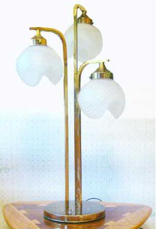 Mid Century Modern Triple Table Lamp