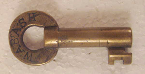 wabash, railroad, padlock, key, old,