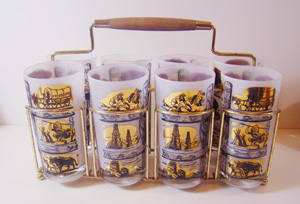 retro, mid century, western, cowboy,