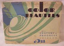 1933 Worlds Fair Color Beauties                             Booklet