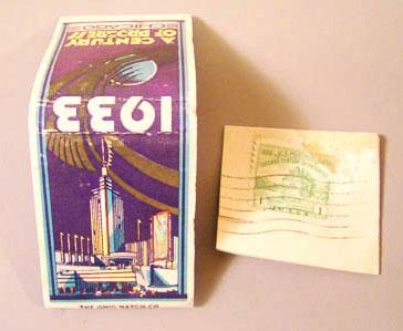 Worlds Fair Matchbook, Stamp