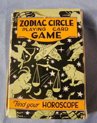 vintage 1931 zodiac Circle card game